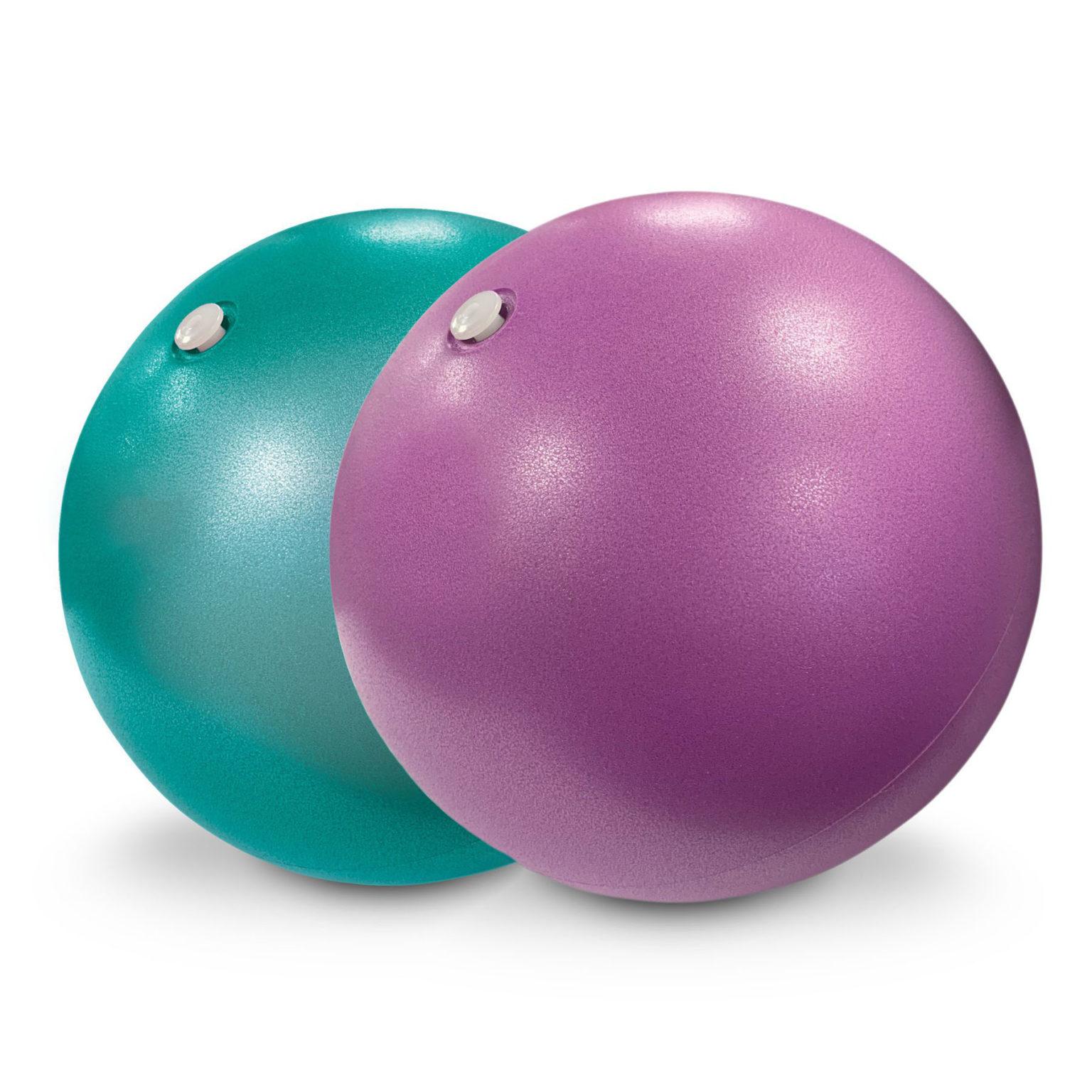 2 soft pilates balls